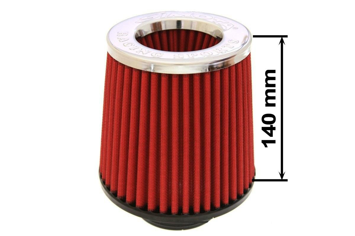 Filtr stożkowy SIMOTA JAU-X02102-06 80-89mm Red - GRUBYGARAGE - Sklep Tuningowy
